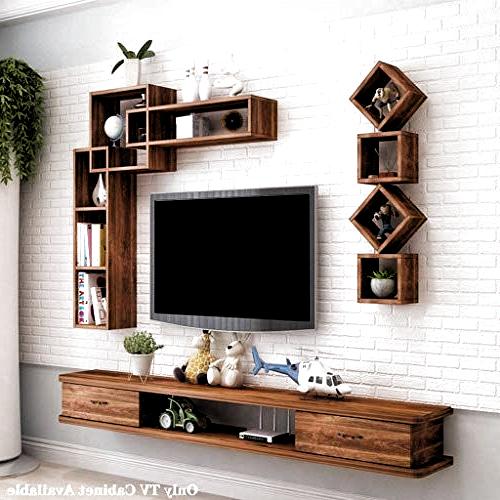 Trendy New Floating Tv Shelf Modern Tv Stand Wall Mounted Media Intended For Floating Tv Shelf Wall Mounted Storage Shelf Modern Tv Stands (View 9 of 10)