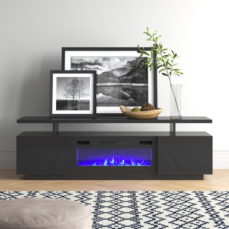 """Trendy Orren Ellis Burkard Tv Stand For Tvs Up To 78"""" With Throughout Grandstaff Tv Stands For Tvs Up To 78"""" (View 4 of 25)"""