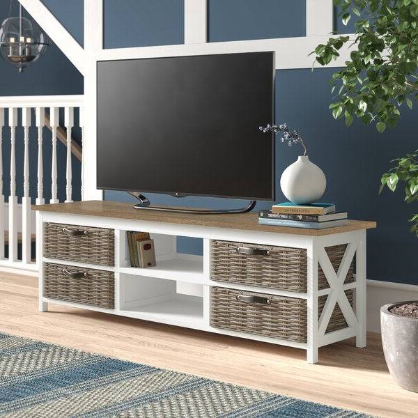 """Trendy Owston Solid Wood Tv Stand For Tvs Up To 65 Inches Inside Solid Wood Tv Stands For Tvs Up To 65"""" (View 14 of 25)"""