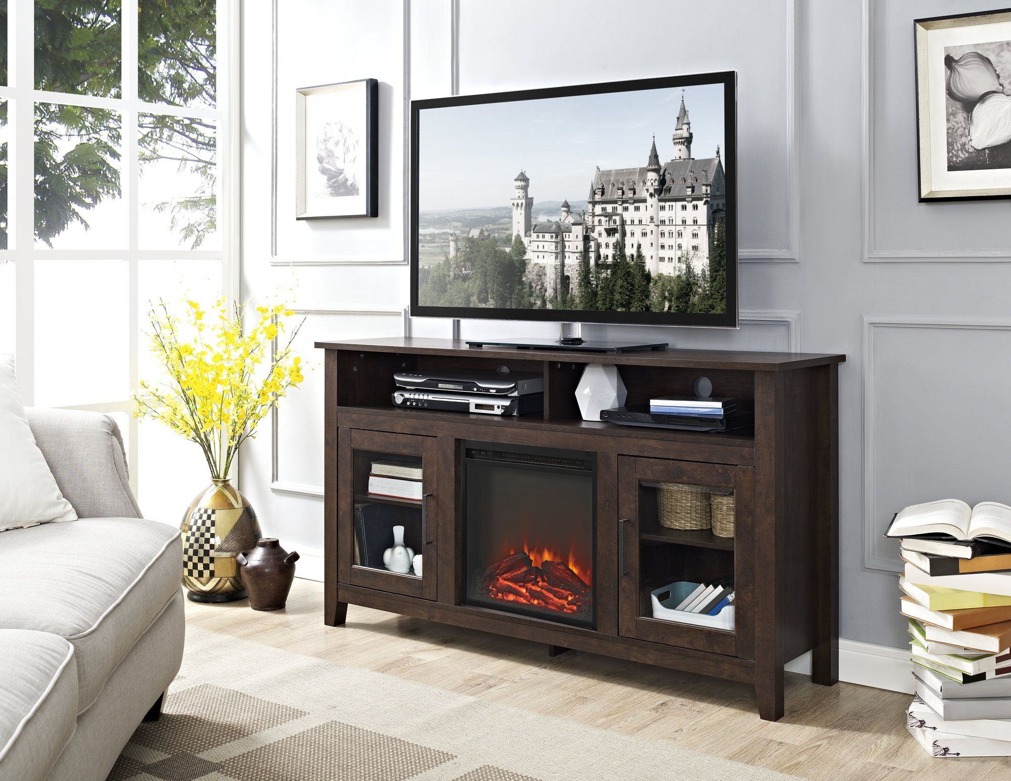 Trendy Pin On Decorating / Home Ideas Inside Woven Paths Barn Door Tv Stands In Multiple Finishes (View 10 of 10)