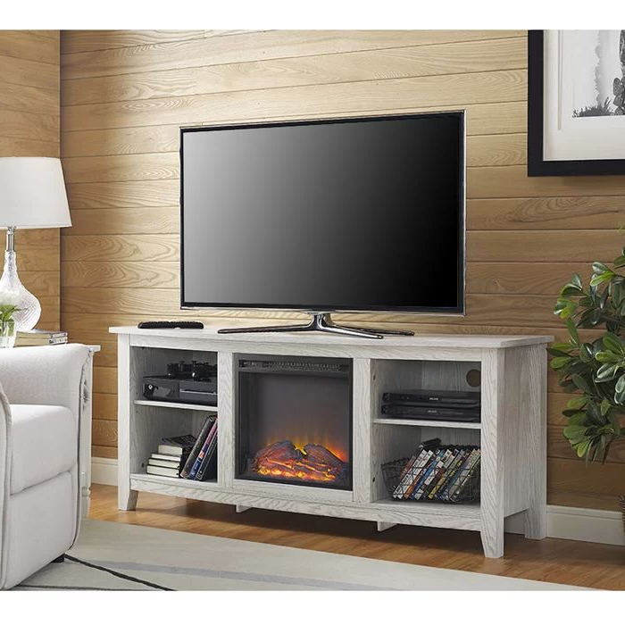 """Trendy Sunbury Tv Stand For Tvs Up To 65"""" With Fireplace Included Pertaining To Sunbury Tv Stands For Tvs Up To 65"""" (View 14 of 25)"""