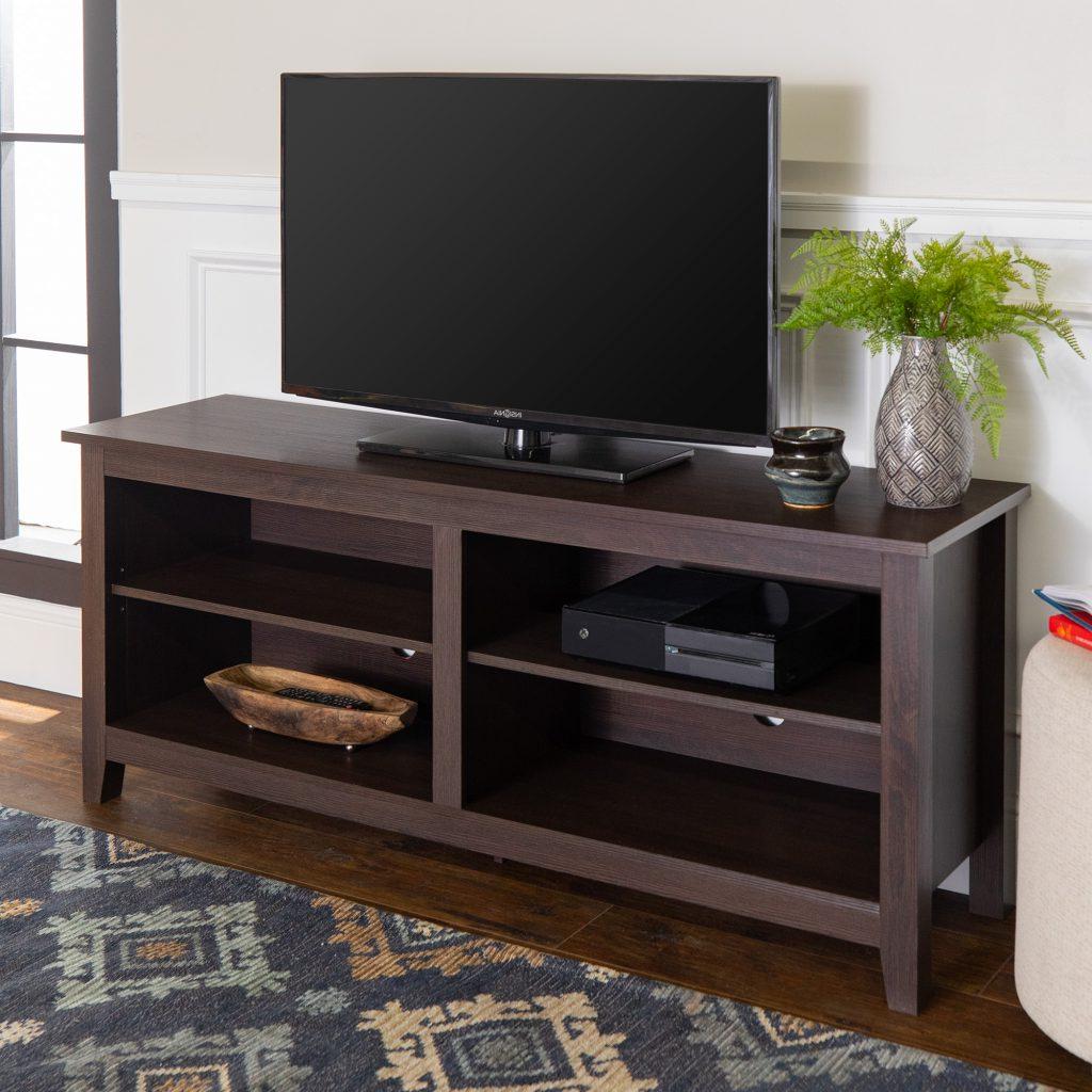 Trendy Walker Edison Wood Tv Media Storage Stand For Tvs Up To 64 Regarding Walker Edison Wood Tv Media Storage Stands In Black (View 4 of 10)