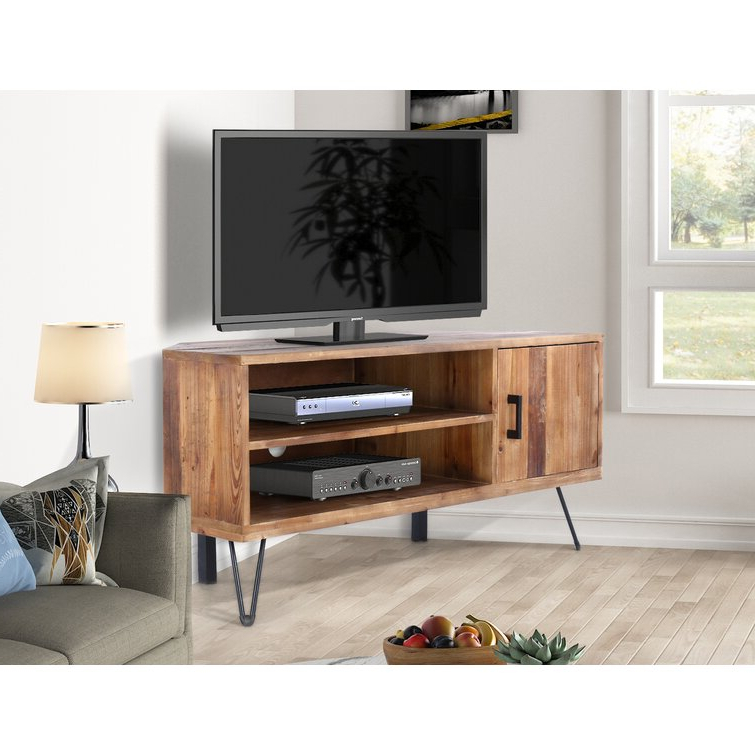 """Trent Austin Design® Abbott Solid Wood Corner Tv Stand For Inside Most Up To Date Maubara Tv Stands For Tvs Up To 43"""" (View 3 of 25)"""