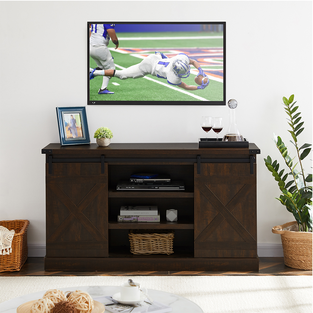 """Tv Cabinet With Shelves, Farmhouse Tv Stand For Tvs Up To Within Most Up To Date Lansing Tv Stands For Tvs Up To 50"""" (View 1 of 25)"""