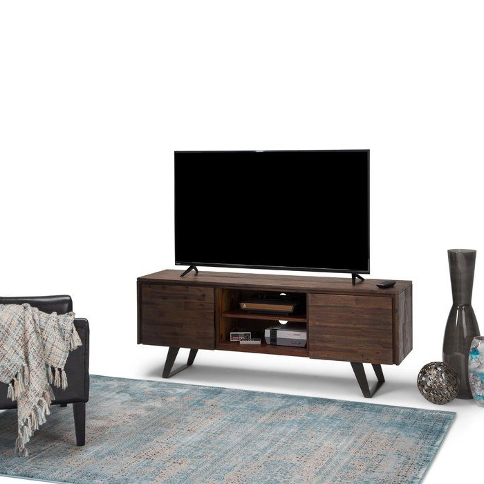 Tv Media Stands, Simpli With Latest Bromley Oak Tv Stands (View 17 of 25)