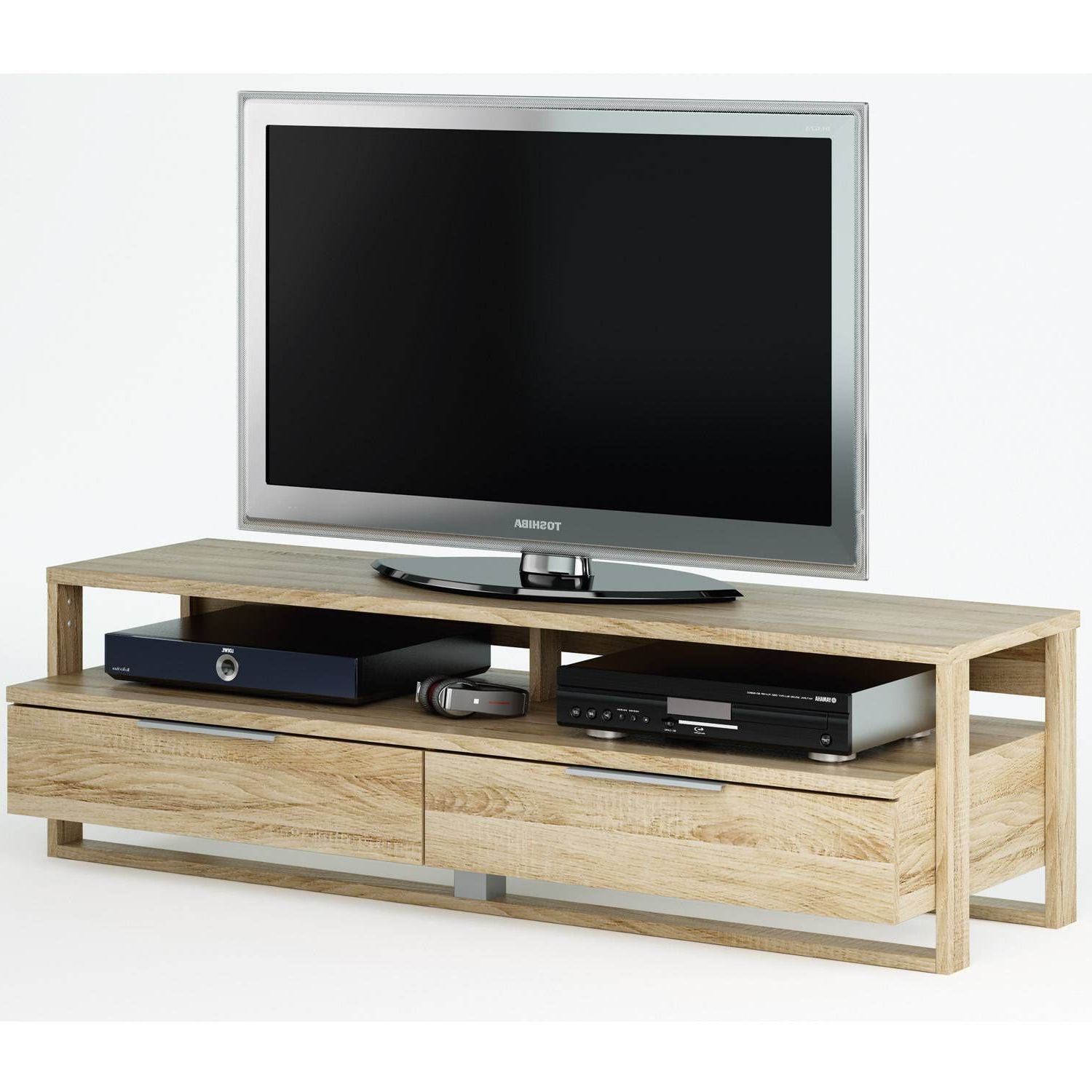 Tv Stand, 42 With Regard To Current Fulton Oak Effect Wide Tv Stands (View 6 of 10)