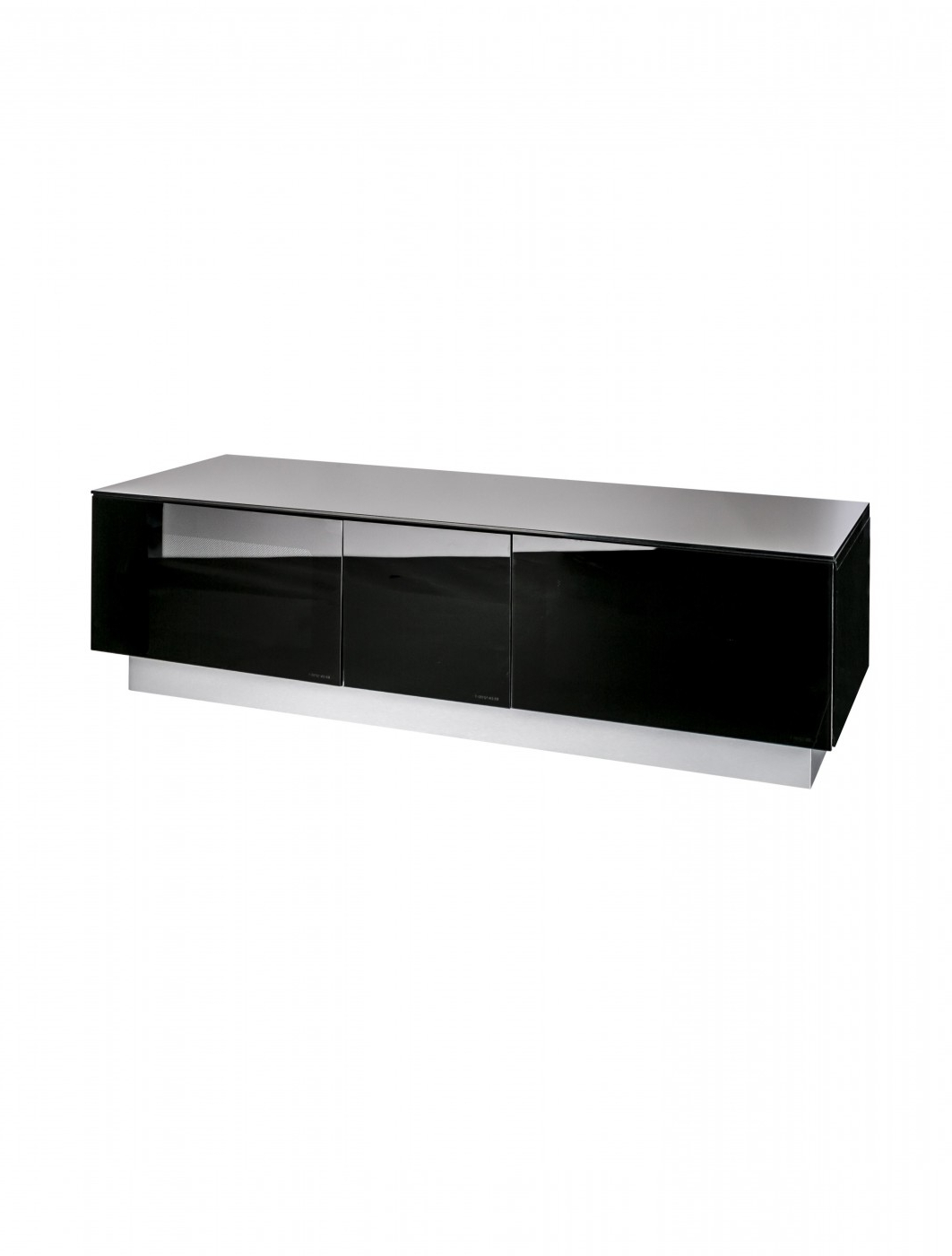 Tv Stand Element Modular Emtmod1250 Blk Tv Cabinet Intended For Most Popular 57'' Tv Stands With Open Glass Shelves Gray & Black Finsh (View 10 of 10)