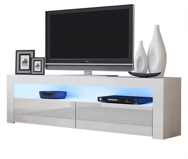 """Tv Stand Milano Classic White Body Modern 65"""" Tv Stand Led With Regard To 2017 Milano 200 Wall Mounted Floating Led 79"""" Tv Stands (View 6 of 10)"""