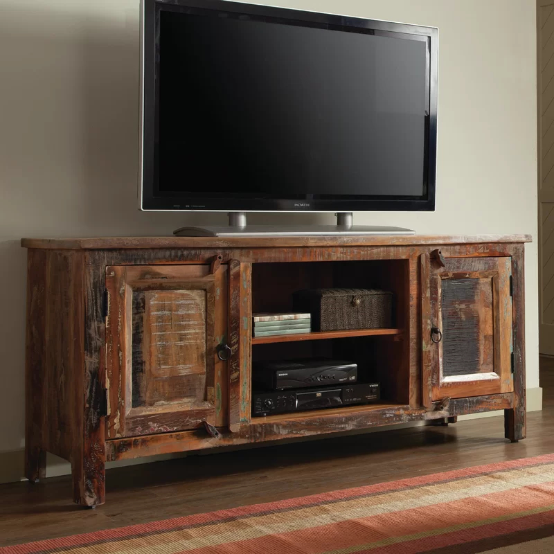 """Tv Stand Pertaining To Giltner Solid Wood Tv Stands For Tvs Up To 65"""" (View 17 of 25)"""