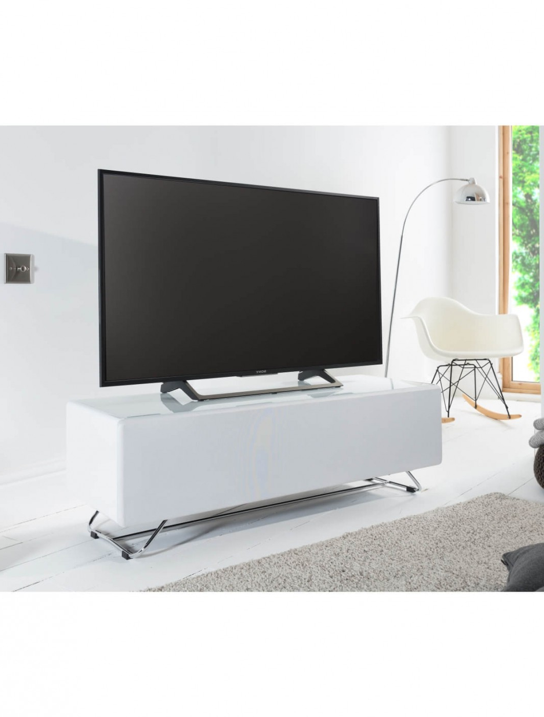 Tv Stand White Chromium Concept 1200mm Cro2 1200cpt Wh Within Well Known Chromium Tv Stands (View 12 of 25)