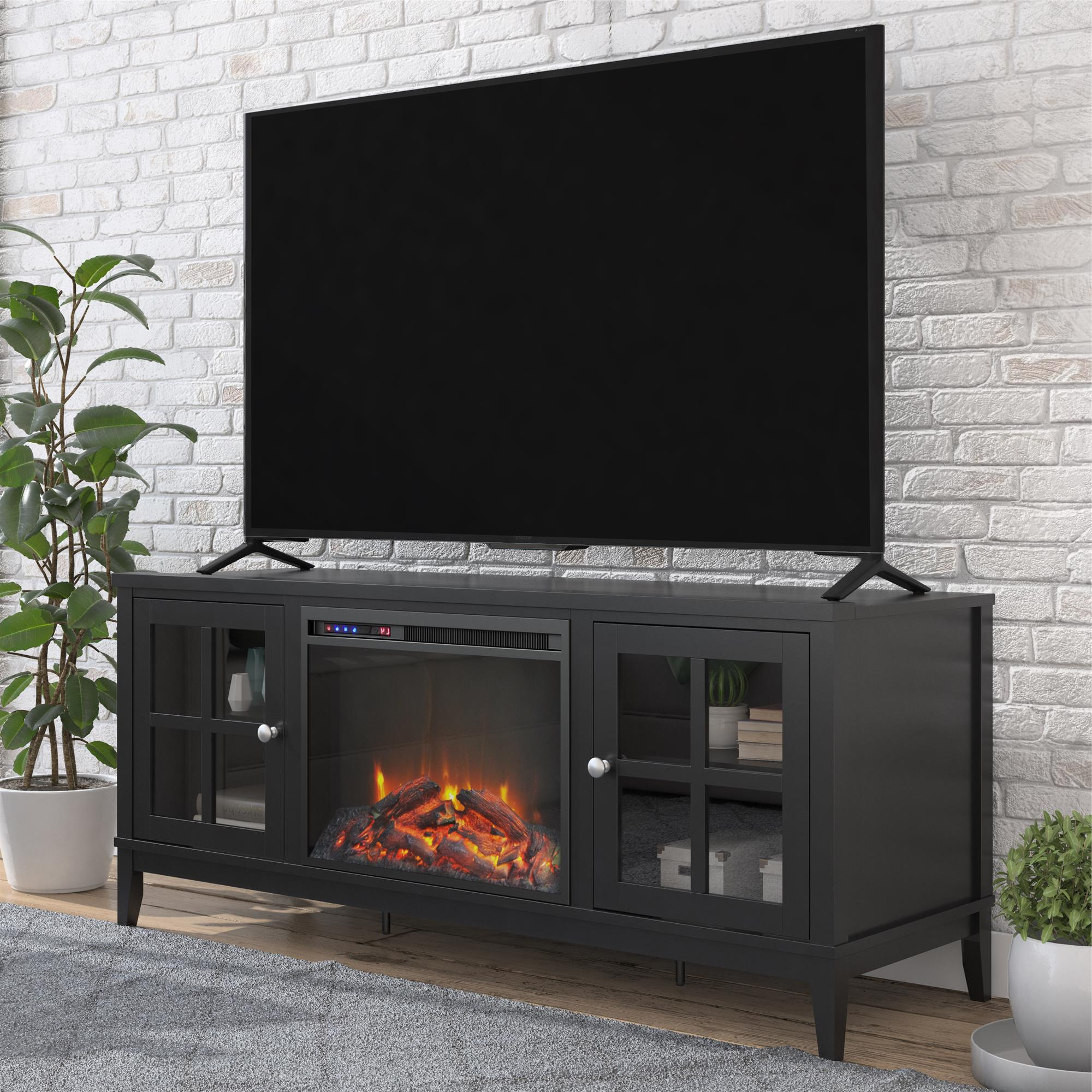 """Tv Stands For Tvs Up To 65"""" In Fashionable Ameriwood Home Franklin Fireplace Tv Stand For Tvs Up To (View 7 of 22)"""