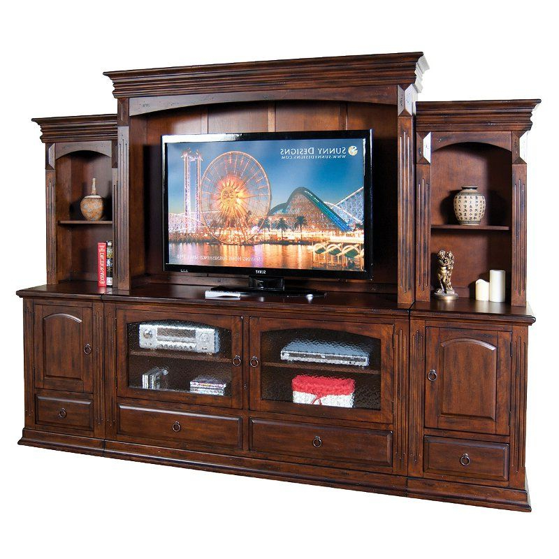 Tv Stands In Rustic Gray Wash Entertainment Center For Living Room Pertaining To 2017 Washed Brown 6 Piece Traditional Entertainment Center (View 7 of 10)