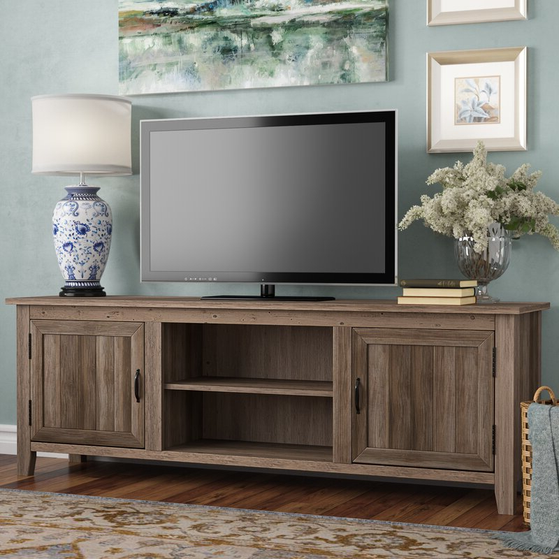 Tv Stands Pertaining To Most Popular Gracie Oaks Shreffler Tv Stand For Tvs Up To 78 Inches (View 13 of 16)