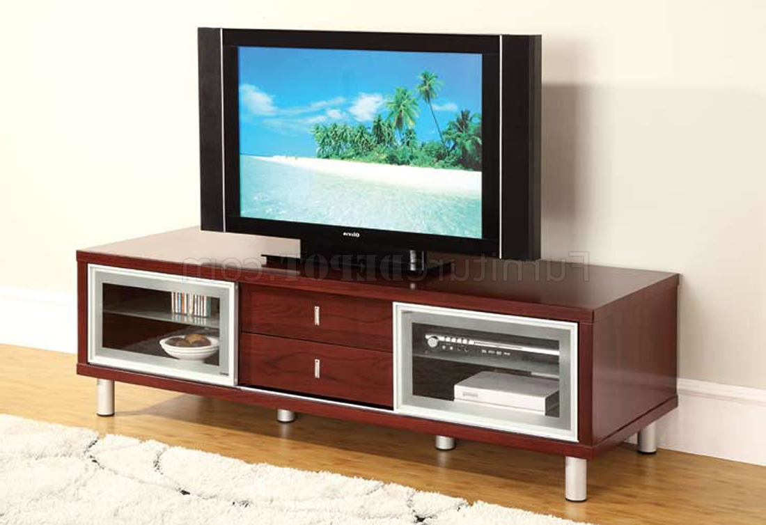 Tv Stands With Drawer And Cabinets In Newest Mahogany Finish Contemporary Tv Stand With Cabinets (View 5 of 10)