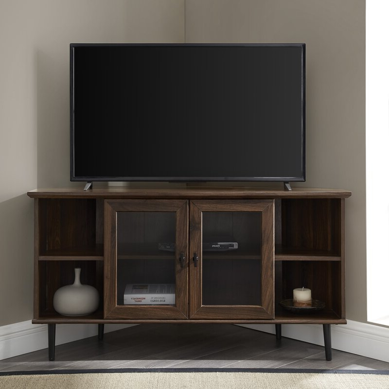 """Twila Tv Stands For Tvs Up To 55"""" With Regard To Most Up To Date Laurel Foundry Modern Farmhouse Gerardo Corner Tv Stand (View 4 of 25)"""