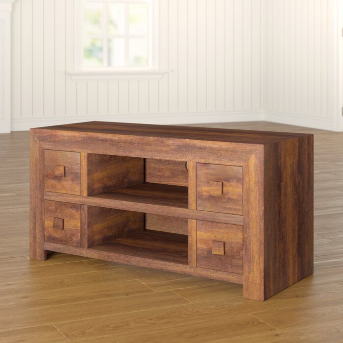 """Union Rustic Quinton Solid Wood Tv Stand For Tvs Up To 49 Intended For Current Oglethorpe Tv Stands For Tvs Up To 49"""" (View 7 of 25)"""