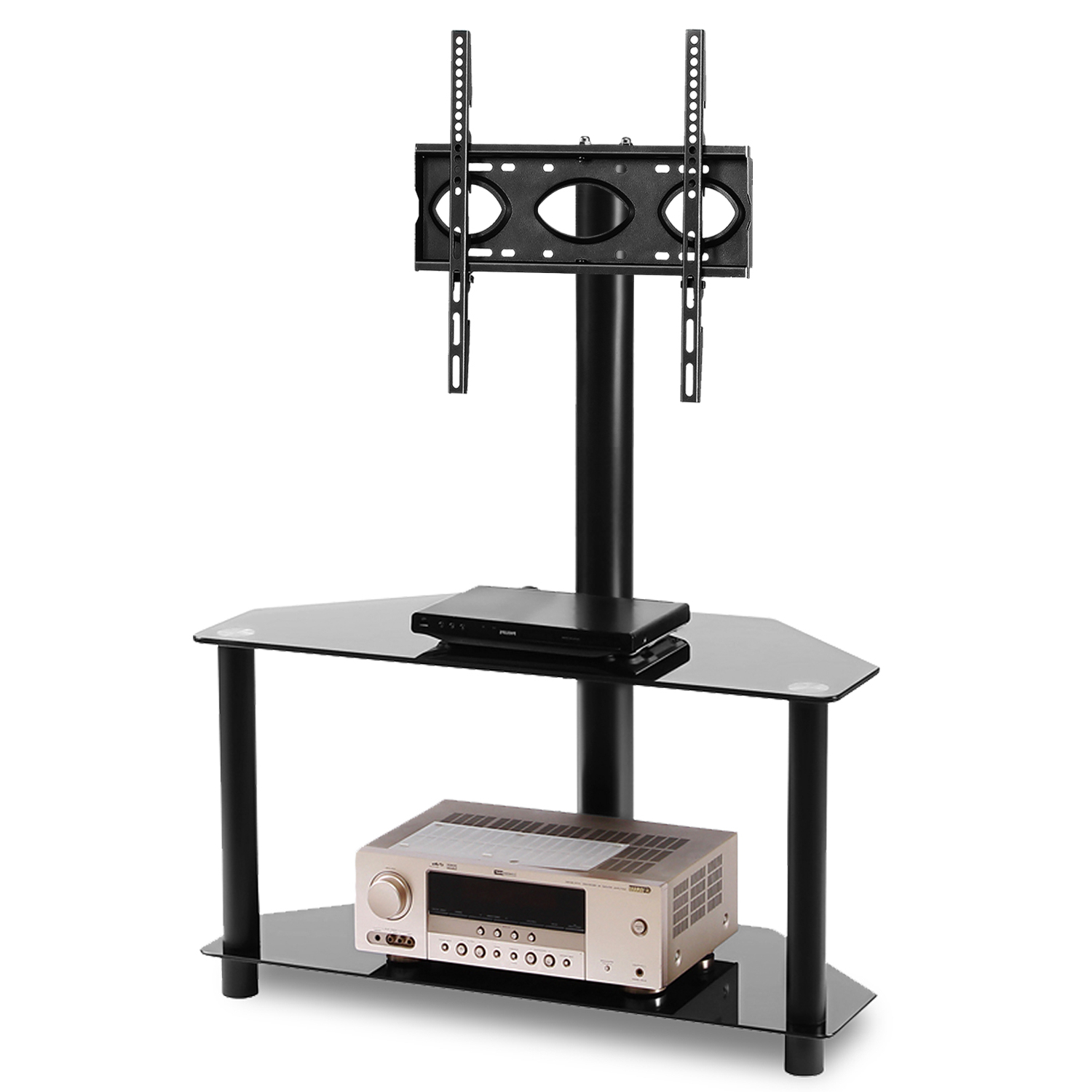 """Virginia Tv Stands For Tvs Up To 50"""" With Regard To Current 5rcom Corner Tv Stand Mount With Shelf For Flat Screen Tvs (View 23 of 25)"""