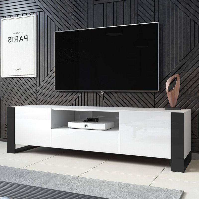 """Wade Logan Hingham Tv Stand For Tvs Up To 85"""" & Reviews With Current Bustillos Tv Stands For Tvs Up To 85"""" (View 20 of 25)"""