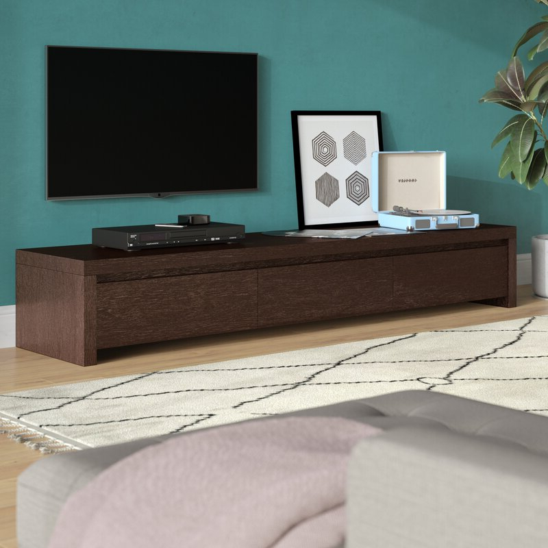 """Wade Logan® Roscoe Tv Stand For Tvs Up To 88"""" & Reviews Regarding Trendy Gosnold Tv Stands For Tvs Up To 88"""" (View 3 of 25)"""