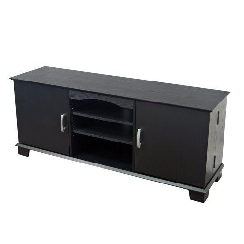 Walker Edison 60 Inch Wood Tv Stand Console, Black Intended For Most Recent Walker Edison Wood Tv Media Storage Stands In Black (View 5 of 10)