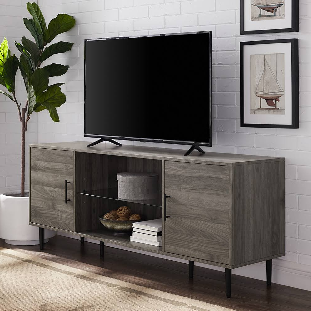 Walker Edison Contemporary Tall Tv Stands With Regard To 2017 Walker Edison 60 In (View 7 of 10)