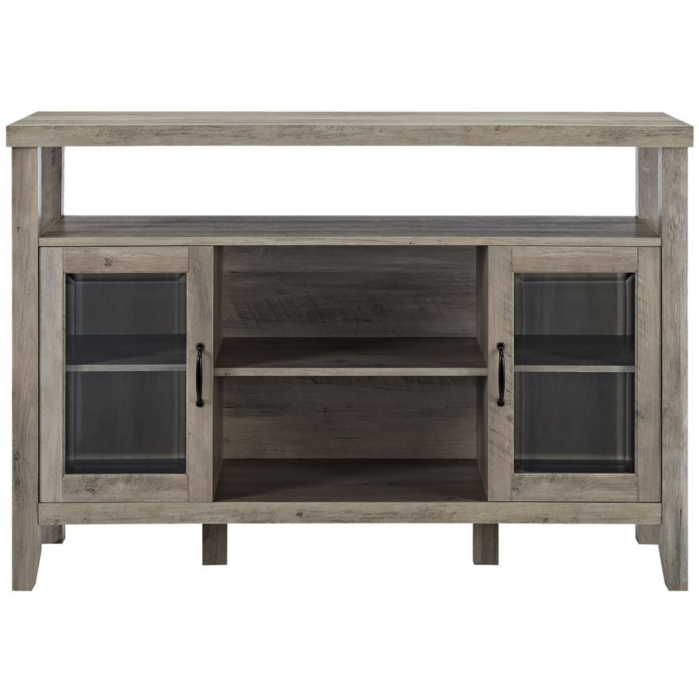 """Walker Edison Farmhouse Tv Stands With Storage Cabinet Doors And Shelves Regarding Current Walker Edison Furniture – Jordan 52"""" Console Highboy (View 8 of 10)"""