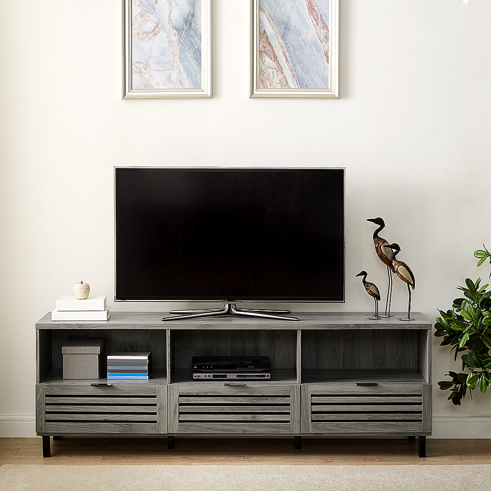 Walker Edison Jackson Tv Stand Cabinet For Most Flat Panel Inside Most Current Corona Grey Flat Screen Tv Unit Stands (View 9 of 10)