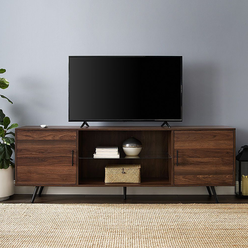 Walker Edison – Mid Century Modern Tv Stand For Most Tvs With Regard To Most Recently Released Walker Edison Contemporary Tall Tv Stands (View 1 of 10)