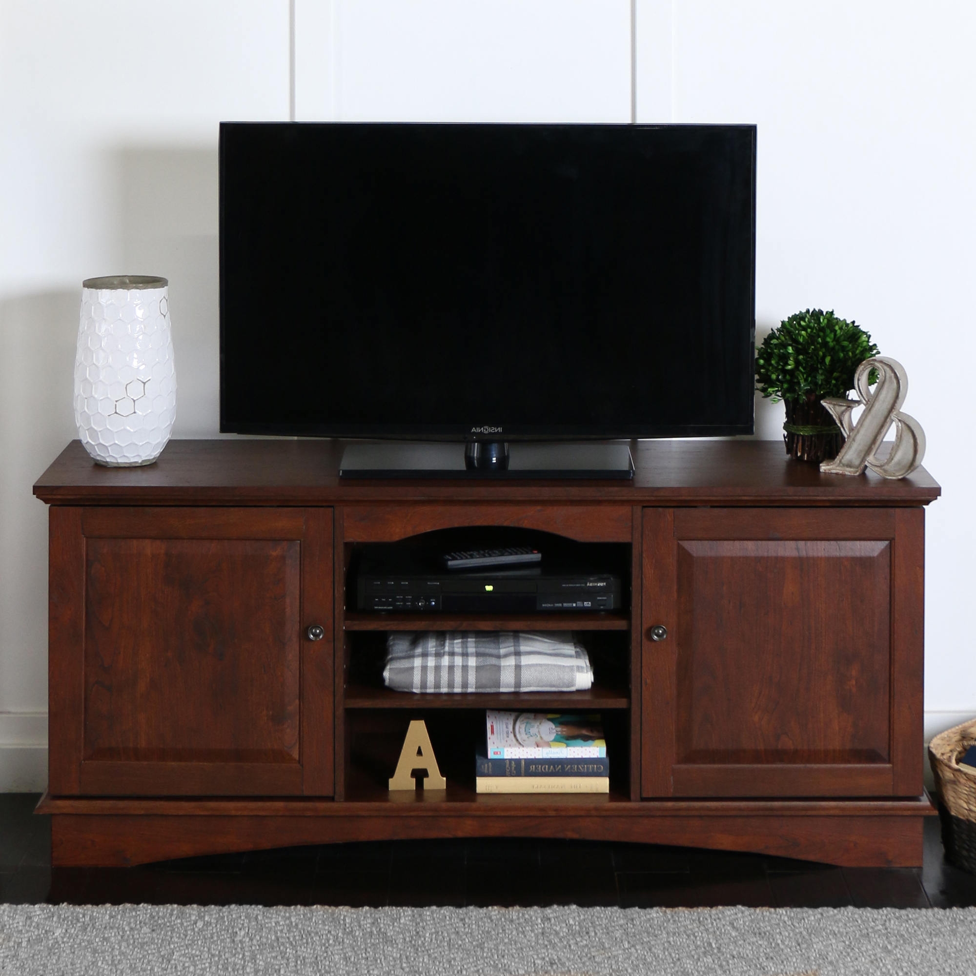 """Walker Edison Wood Tv Stand For Tvs Up To 60 Inside 2017 Ahana Tv Stands For Tvs Up To 60"""" (View 1 of 25)"""