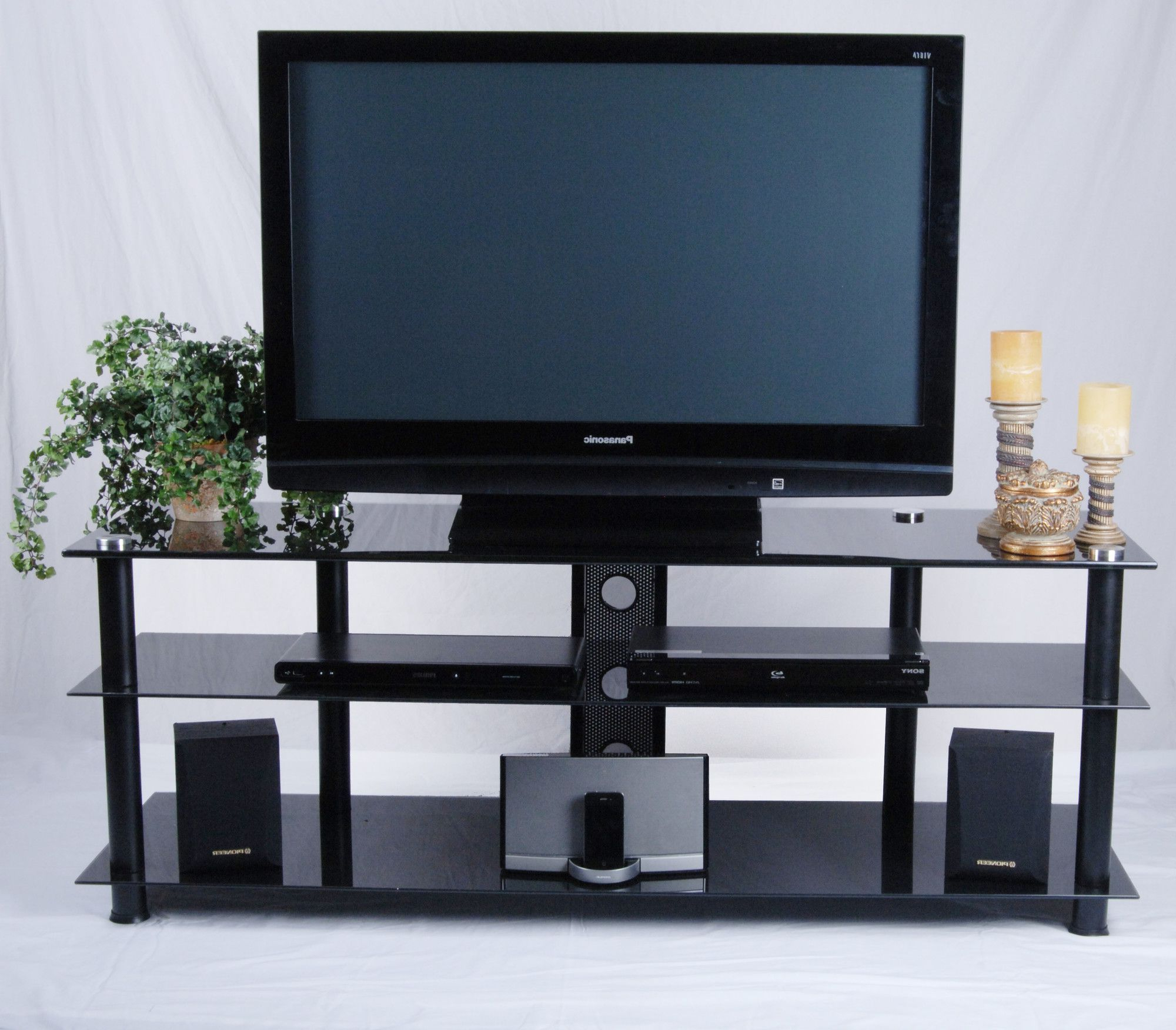 Wall Unit Designs Throughout Well Known Tier Entertainment Tv Stands In Black (View 2 of 10)