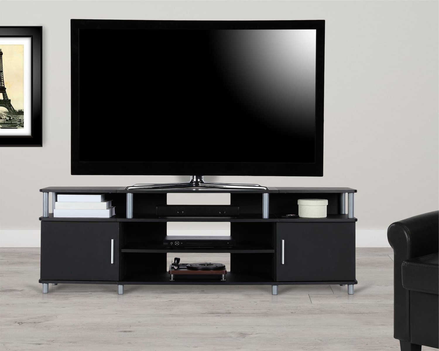 Walmart Canada Inside Carson Tv Stands In Black And Cherry (View 3 of 10)