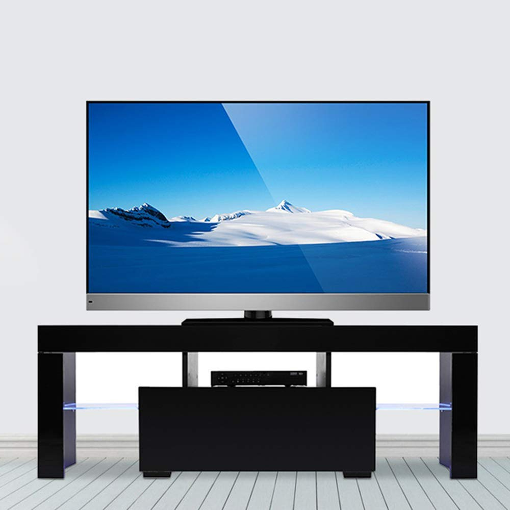Well Known 57'' Led Tv Stands Cabinet With Regard To Wood Television Stand Modern Tv Stand Cabinet With Led (View 3 of 10)