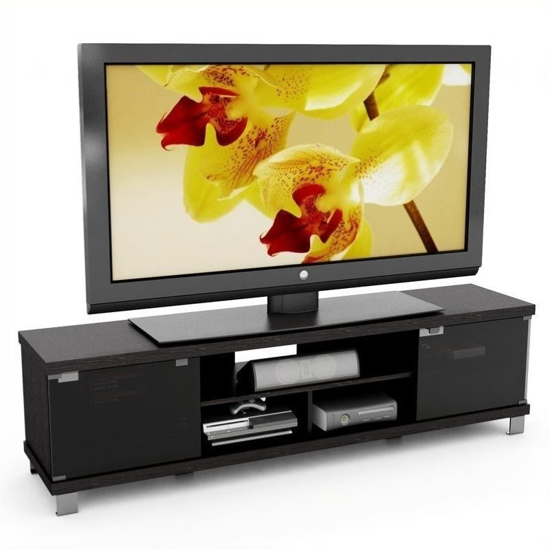 """Well Known 71"""" Extra Wide Tv Stand In Ravenwood Black – B 207 Cht For Deco Wide Tv Stands (View 7 of 10)"""