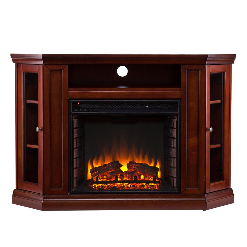 Well Known Alcott Hill Dunminning Corner Tv Stand With Fireplace Within Compton Ivory Corner Tv Stands With Baskets (View 21 of 25)