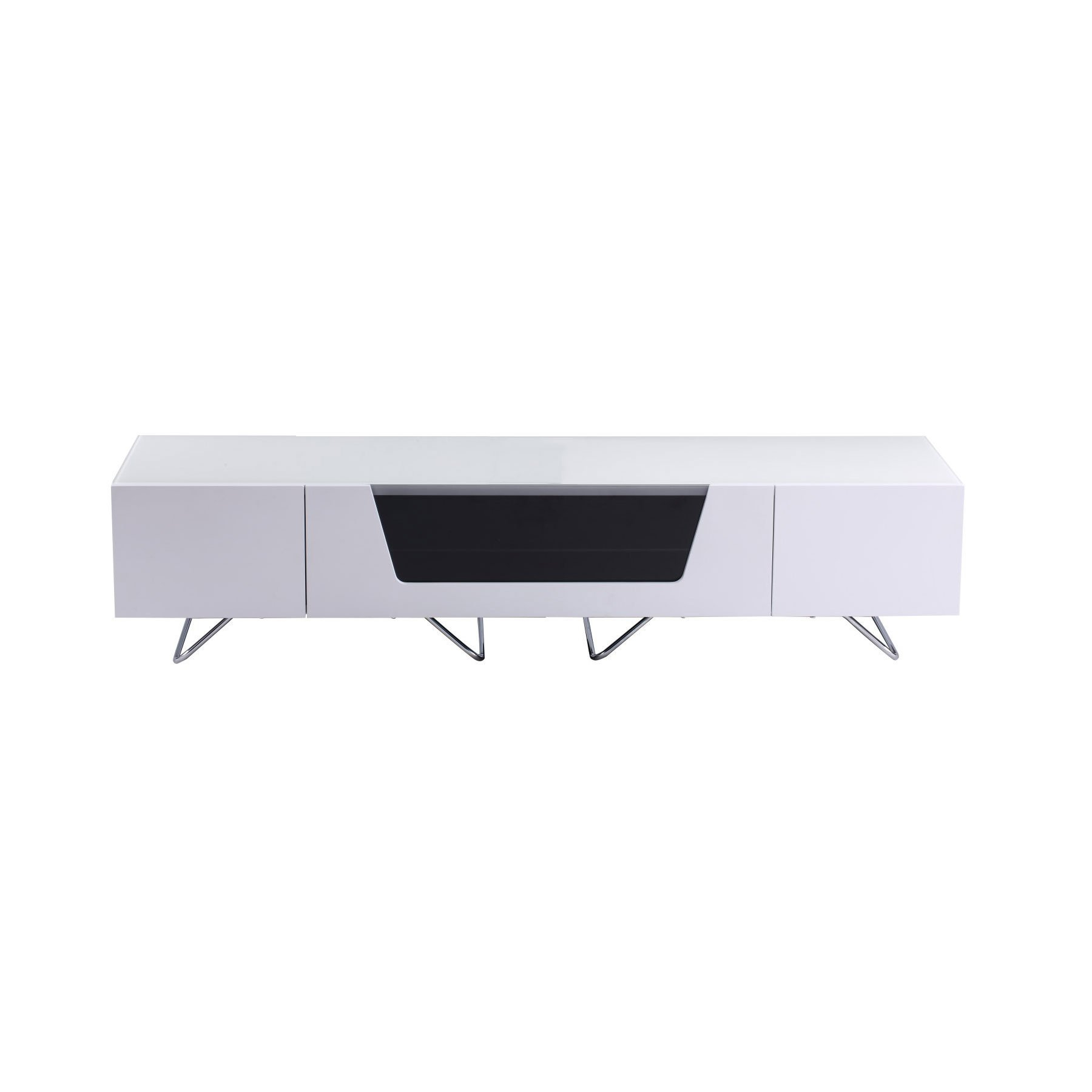 """Well Known Alphason Chromium 2 160cm White Tv Stand For Up To 75"""" Tvs Inside Chromium Tv Stands (View 11 of 25)"""
