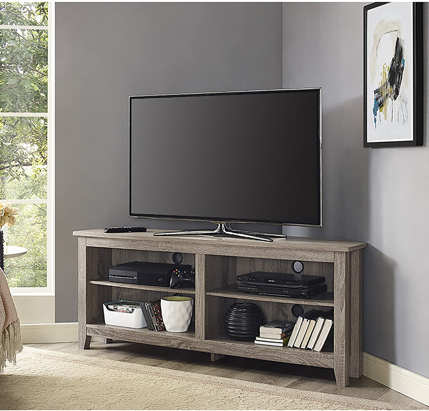 Well Known Amazon: Home Accent Furnishings Lucas 58 Inch Wide Pertaining To Oliver Wide Tv Stands (View 5 of 10)