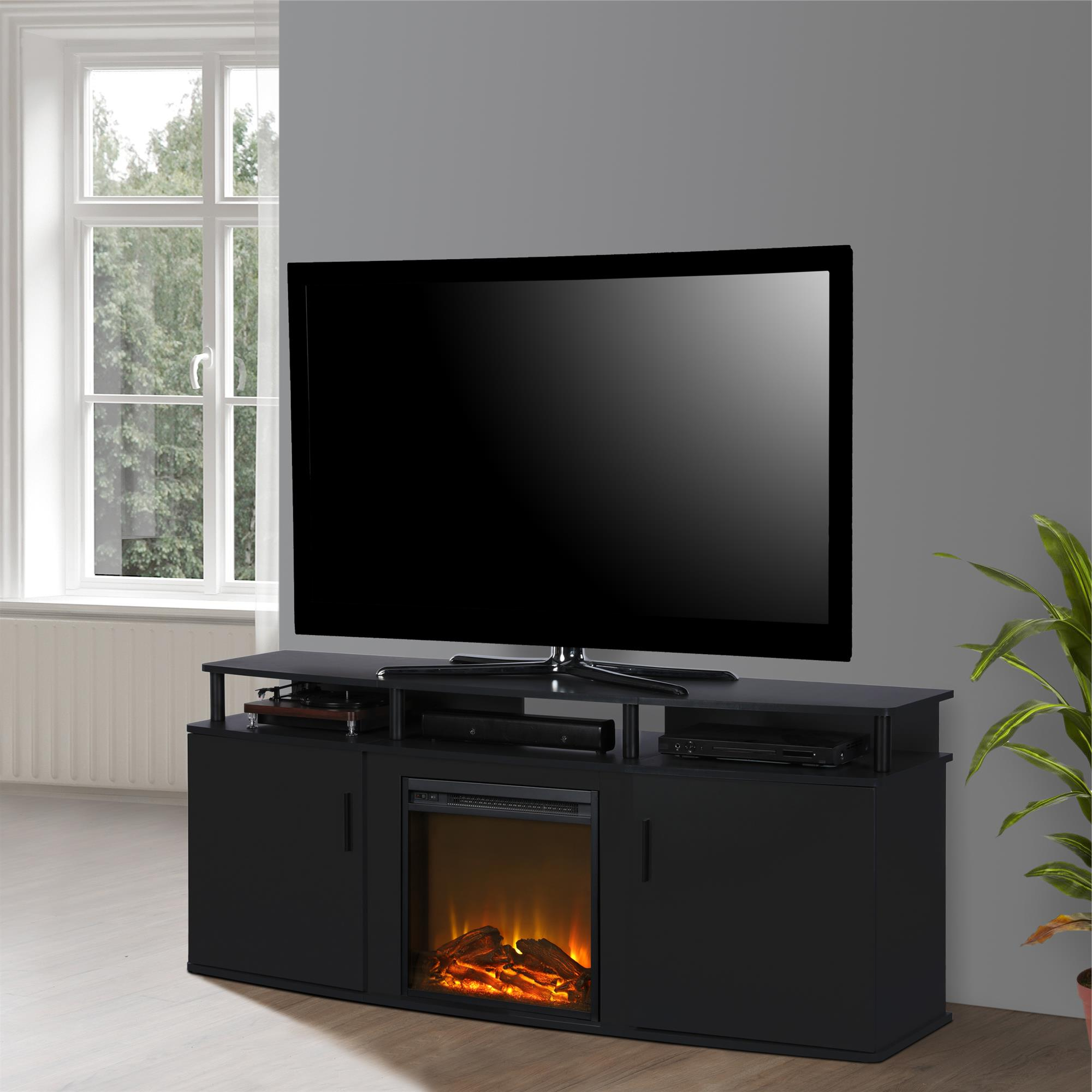 """Well Known Ameriwood Home Carson Electric Fireplace Tv Console For Intended For Chicago Tv Stands For Tvs Up To 70"""" With Fireplace Included (View 4 of 25)"""