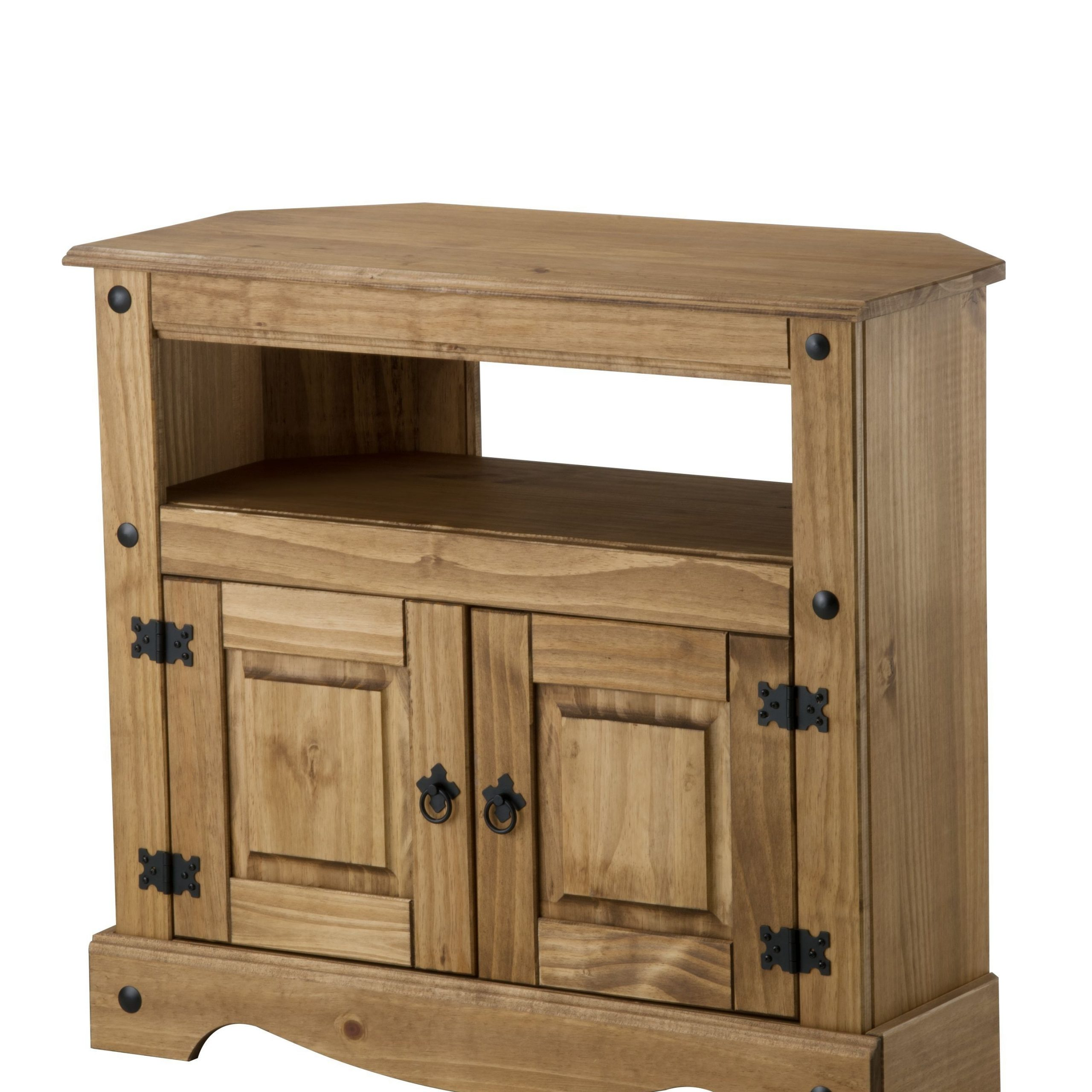 Well Known Bonsoni Pine Corona Corner Tv Cabinet (View 2 of 10)