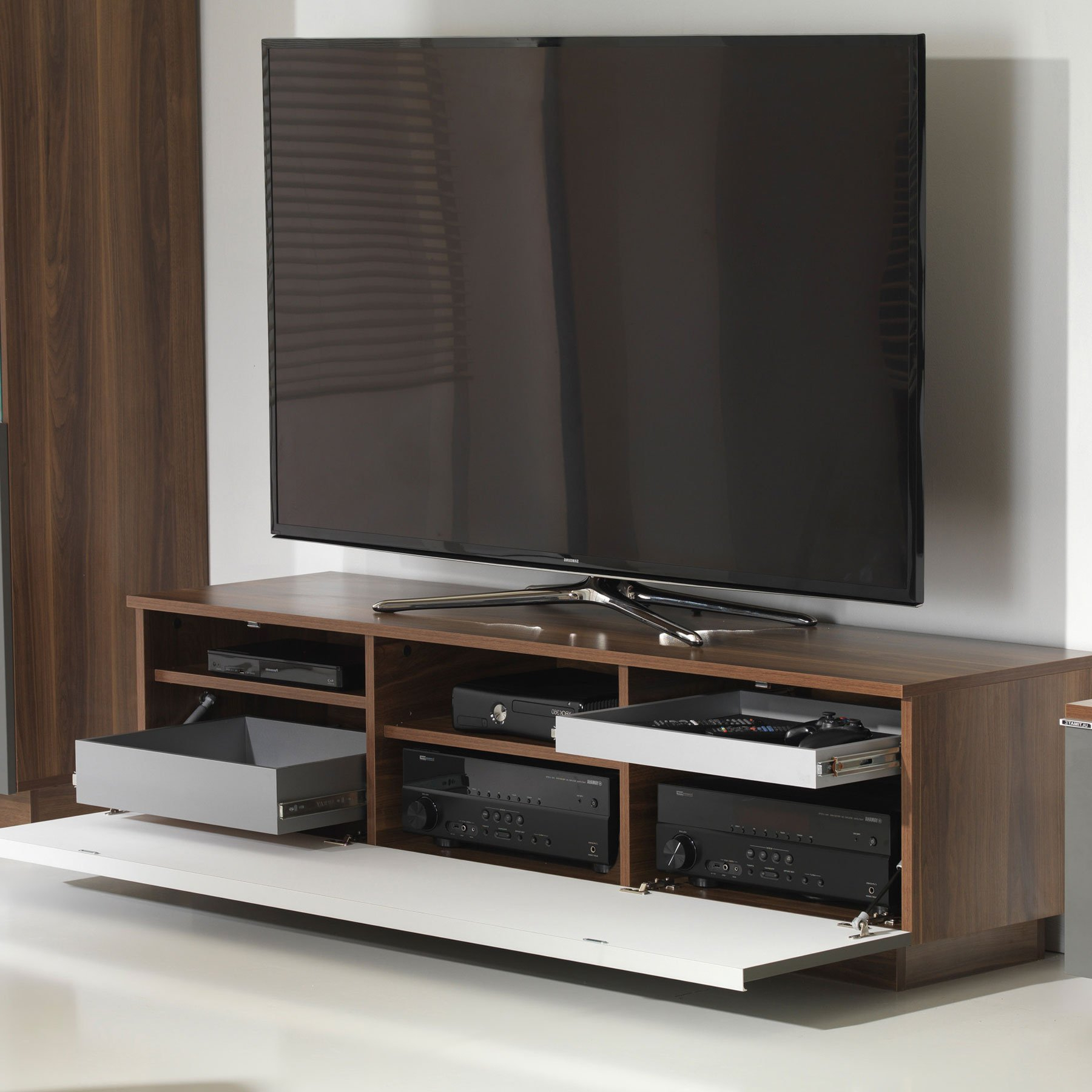 """Well Known Broward Tv Stands For Tvs Up To 70"""" Regarding Uk Cf Fusion 160cm Walnut And Grey Tv Stand For Up To 70"""" Tvs (View 23 of 25)"""