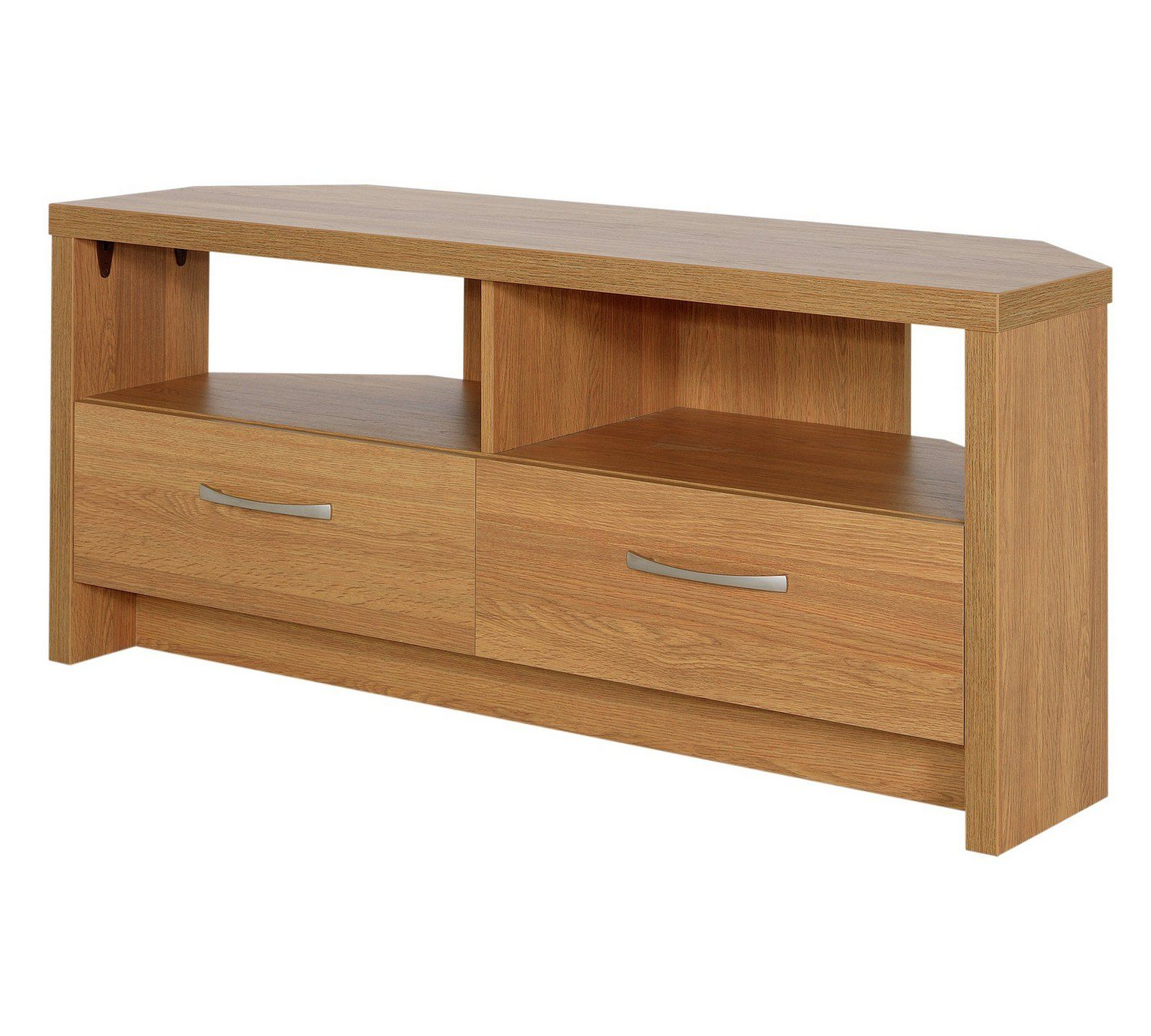 Well Known Buy Collection Venice 2 Drawer Large Corner Tv Unit – Oak Pertaining To Fulton Oak Effect Corner Tv Stands (View 1 of 25)