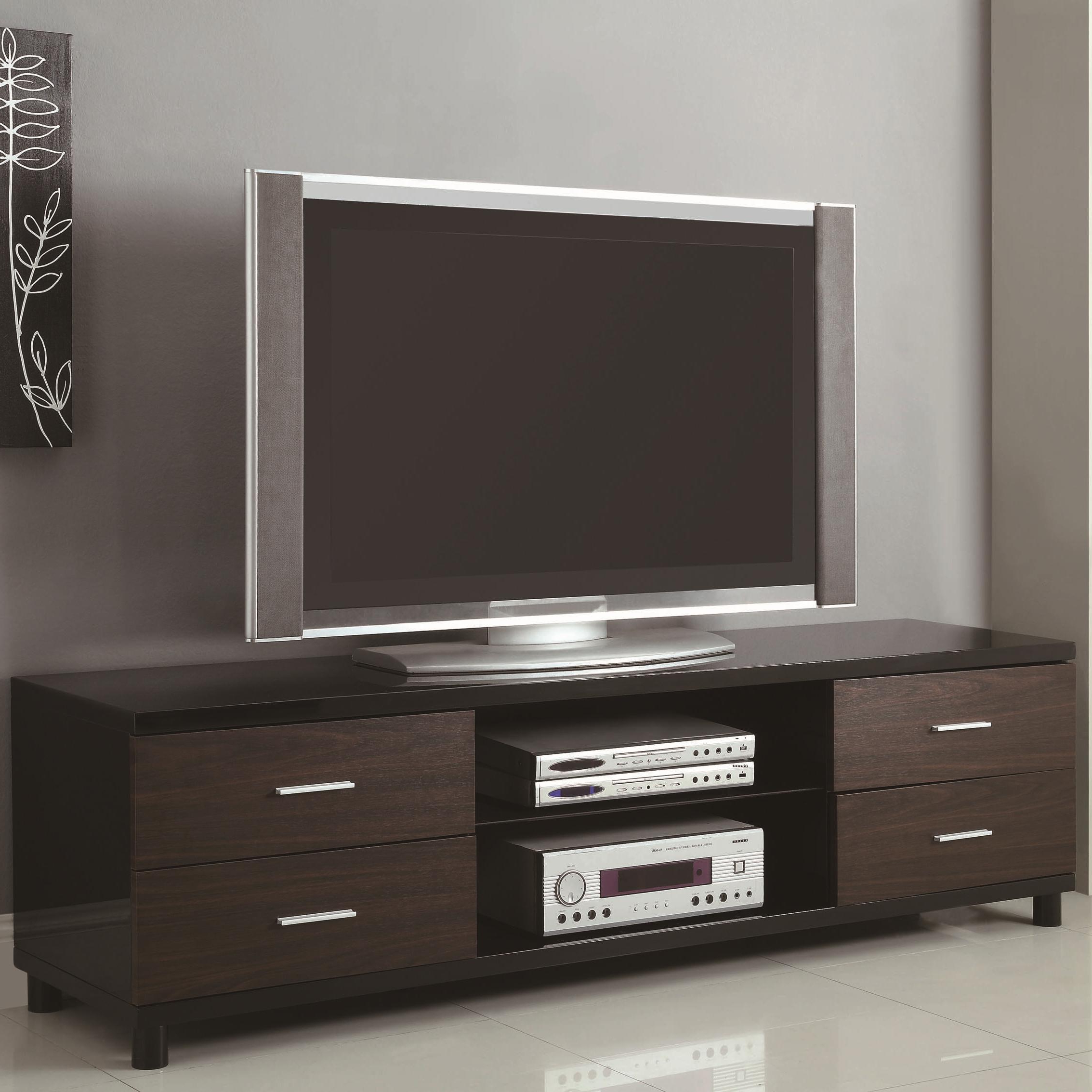 Well Known Coaster Tv Stands 4 Drawer Two Tone Tv Stand With 2 Inside Manhattan 2 Drawer Media Tv Stands (View 18 of 25)