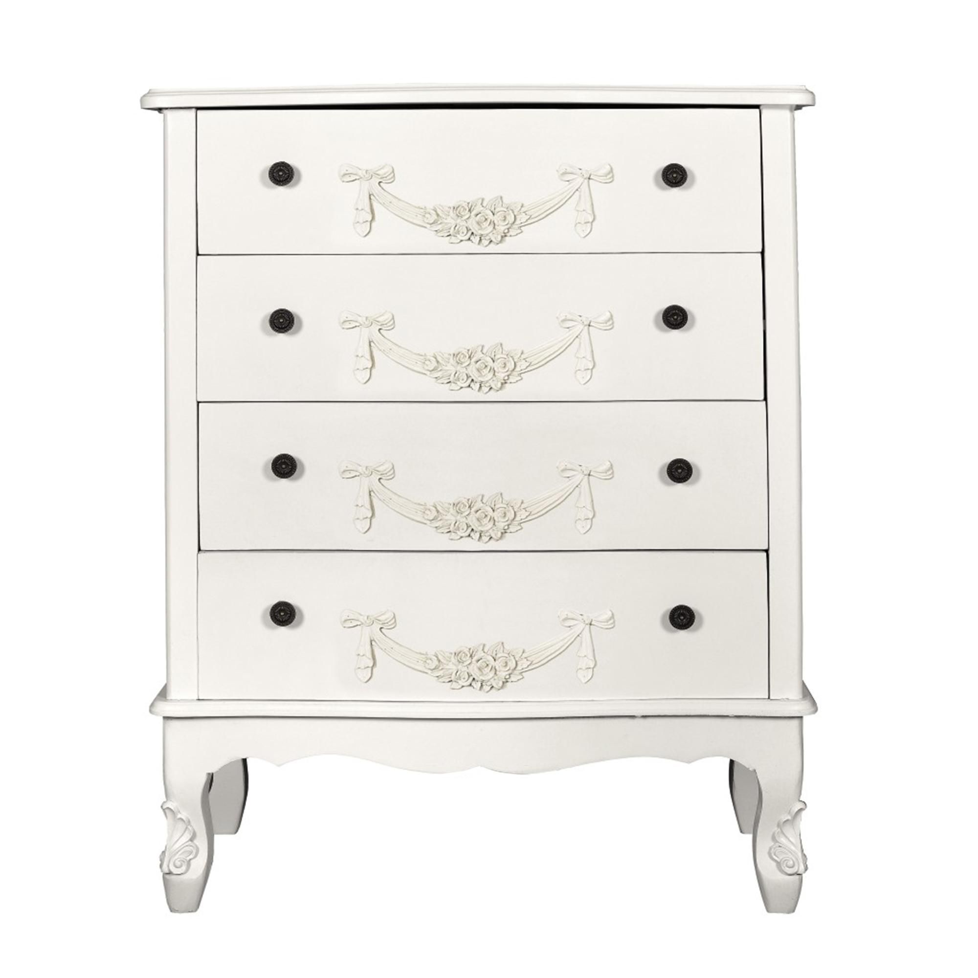 Well Known Dunelm Toulouse Ivory Wide 4 Drawer Chest – Bedroom With Compton Ivory Extra Wide Tv Stands (View 25 of 25)