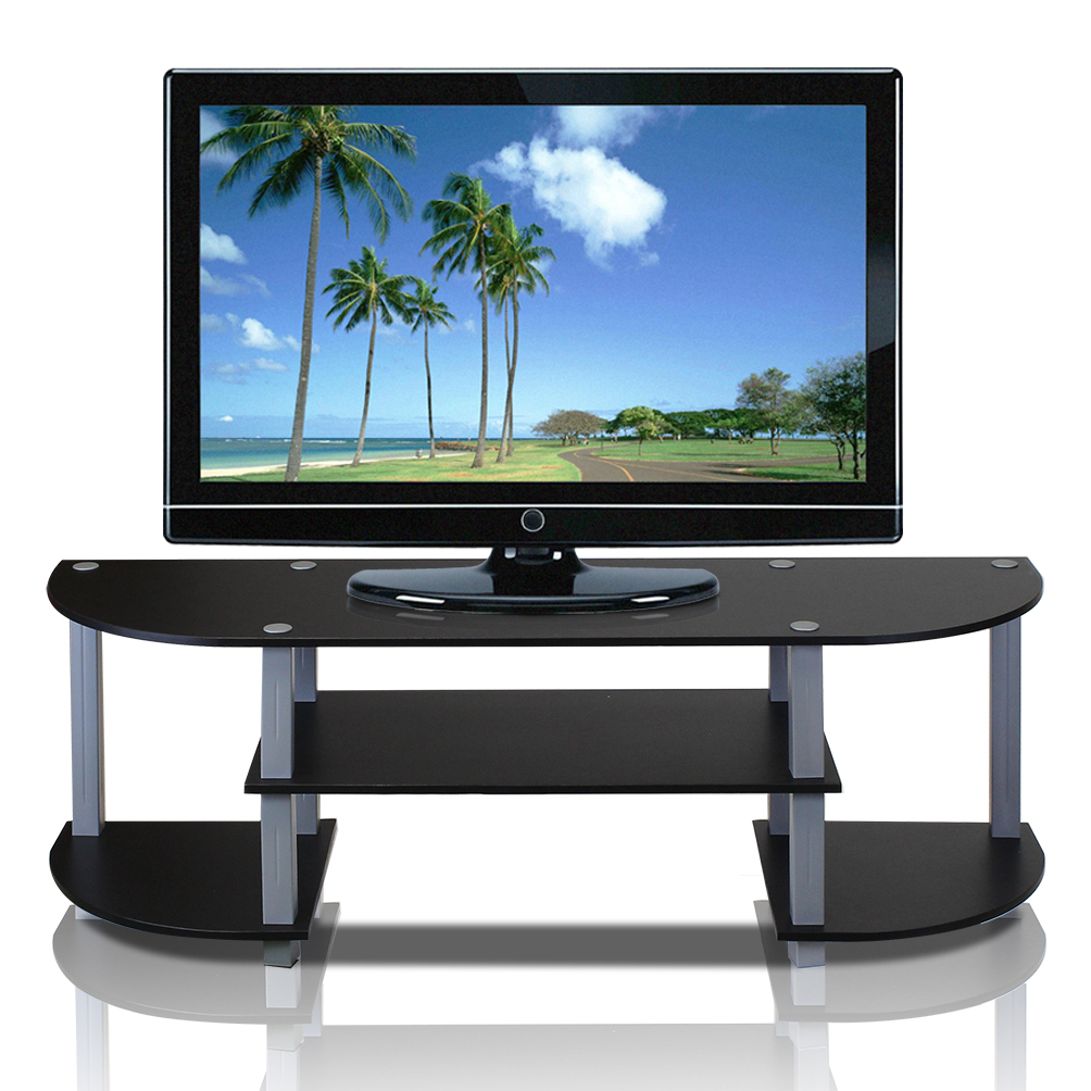 Well Known Harbor Wide Tv Stands In Furinno Turn S Tube Wide Tv Entertainment Center, Black (View 16 of 25)