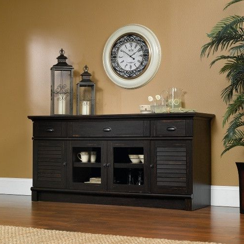 Well Known Harbor Wide Tv Stands Intended For Sauder Harbor View Credenza/tv Stand – Console Tables At (View 20 of 25)