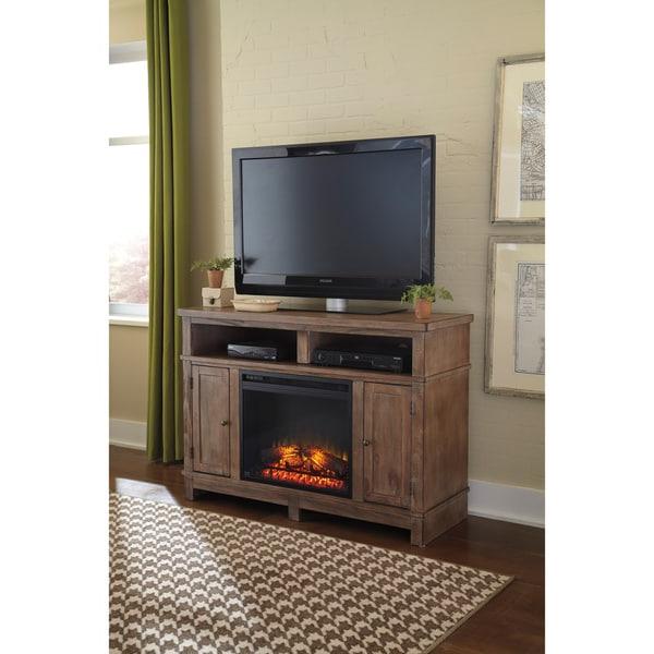 Well Known Jackson Corner Tv Stands Within Signature Designashley Pinnadel Light Brown Medium Tv (View 4 of 25)