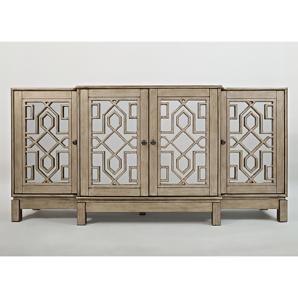 """Well Known Jofran 1550 70 Casa Bella 70"""" Mirrored Console / Tv Stand In Lorraine Tv Stands For Tvs Up To 70"""" (View 24 of 25)"""
