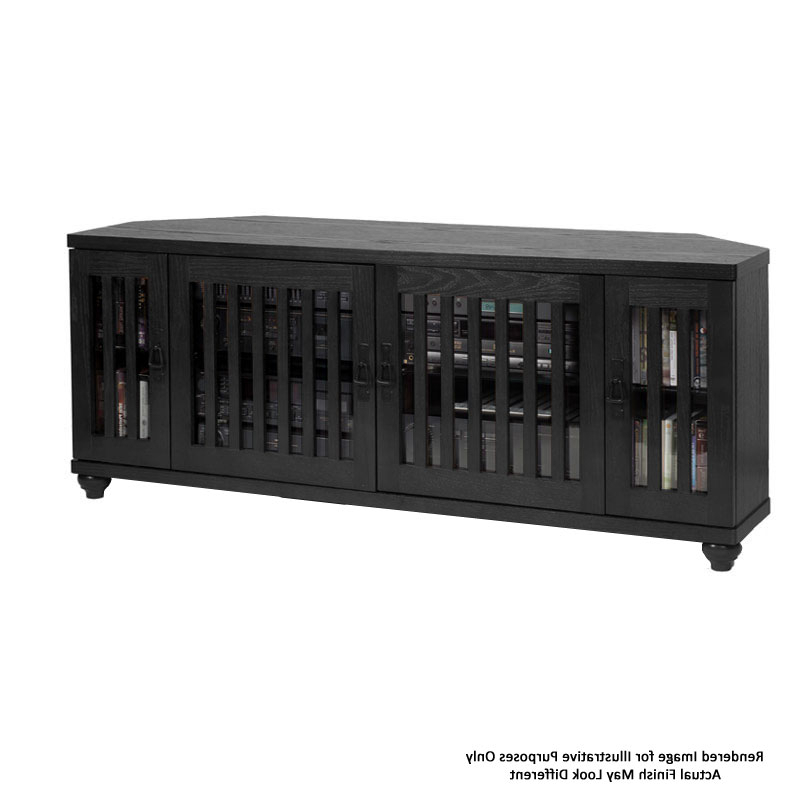 """Well Known Leslie Dame 60 Inch Corner Uhd 4k Tv Stand Black Tvco 60blk In Lorraine Tv Stands For Tvs Up To 60"""" (View 21 of 25)"""