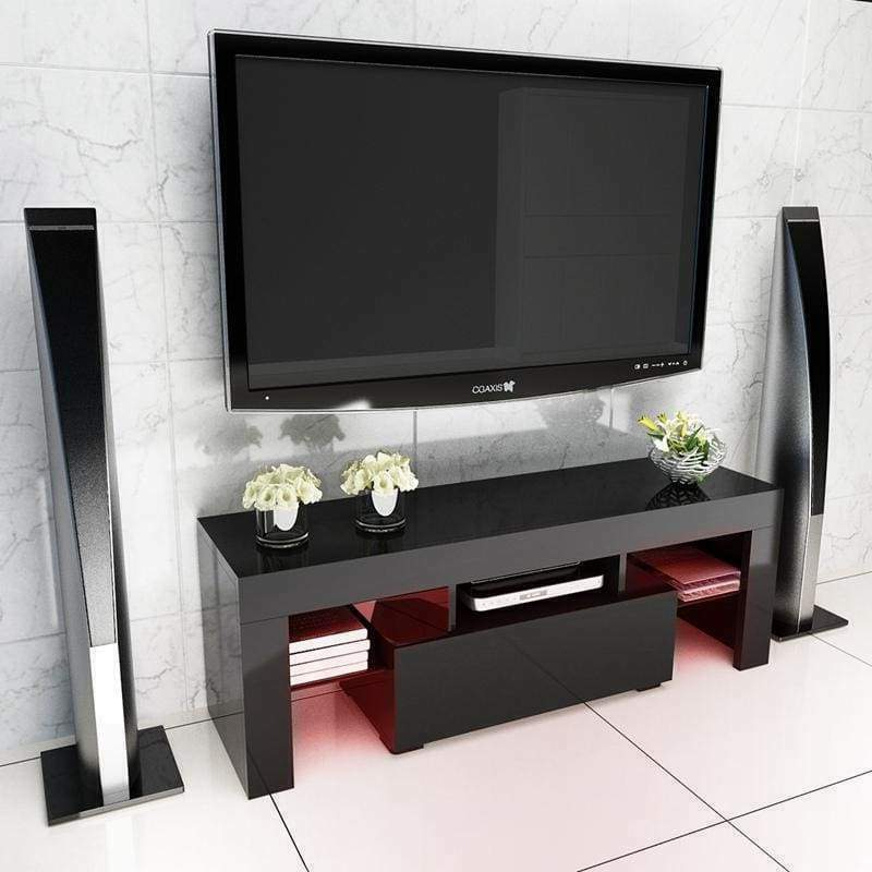 Well Known New Modern Minimalist Tv Stand With High Gloss Led Lights Throughout 57'' Tv Stands With Led Lights Modern Entertainment Center (View 1 of 10)