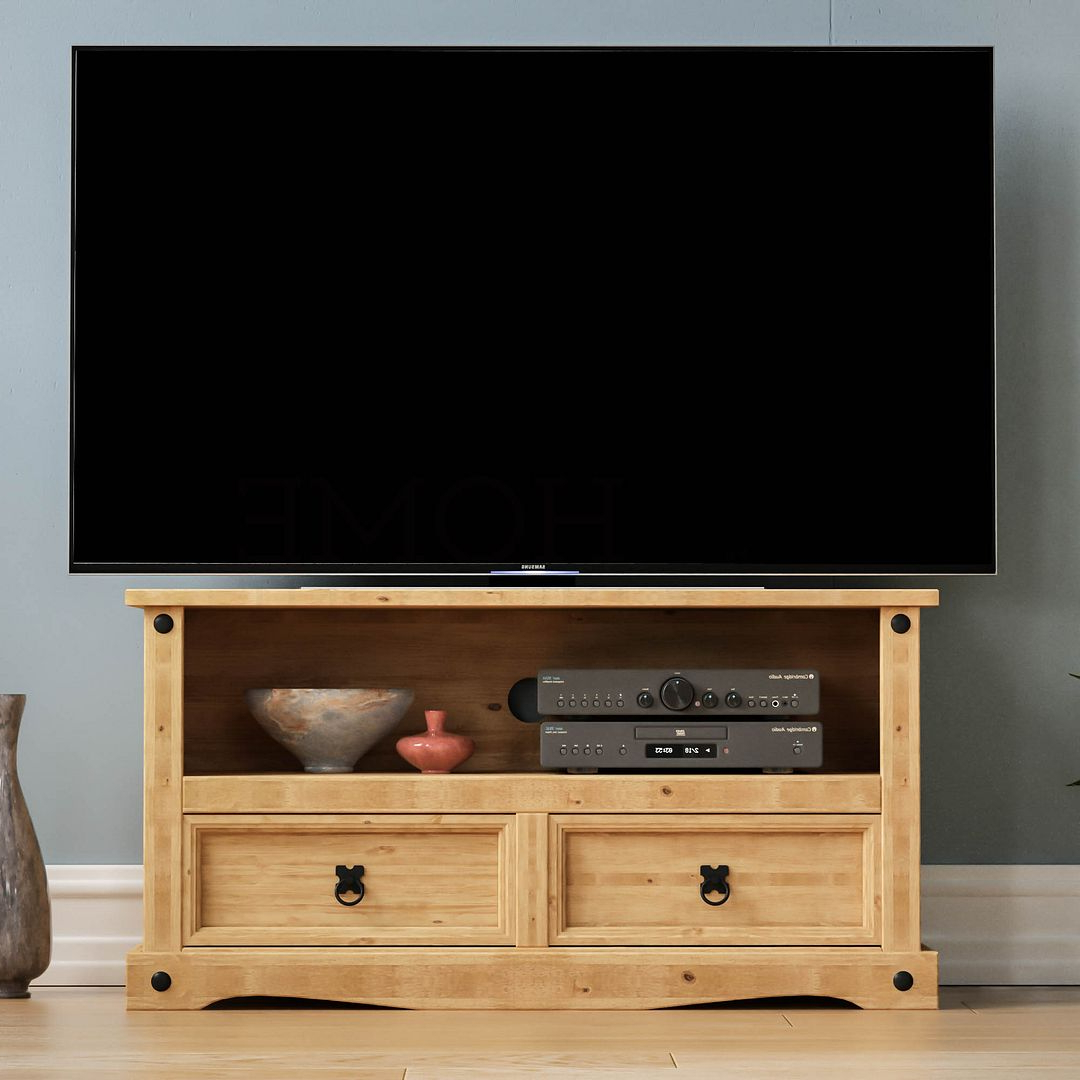 Well Known Panama Tv Stands Intended For Corona Panama Tv Cabinet Media Dvd Unit Solid Pine Wood (View 6 of 25)