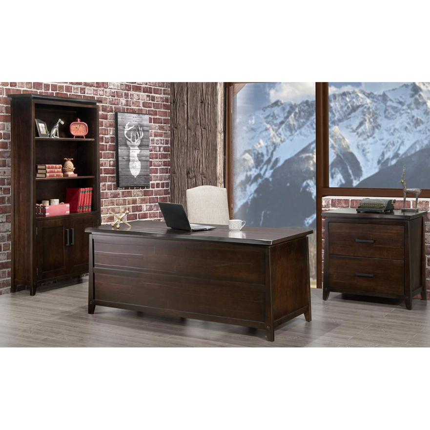 Well Known Pemberton Live Edge Desk – Rustic Wood Office Furniture I For Hanna Oyster Wide Tv Stands (View 2 of 10)